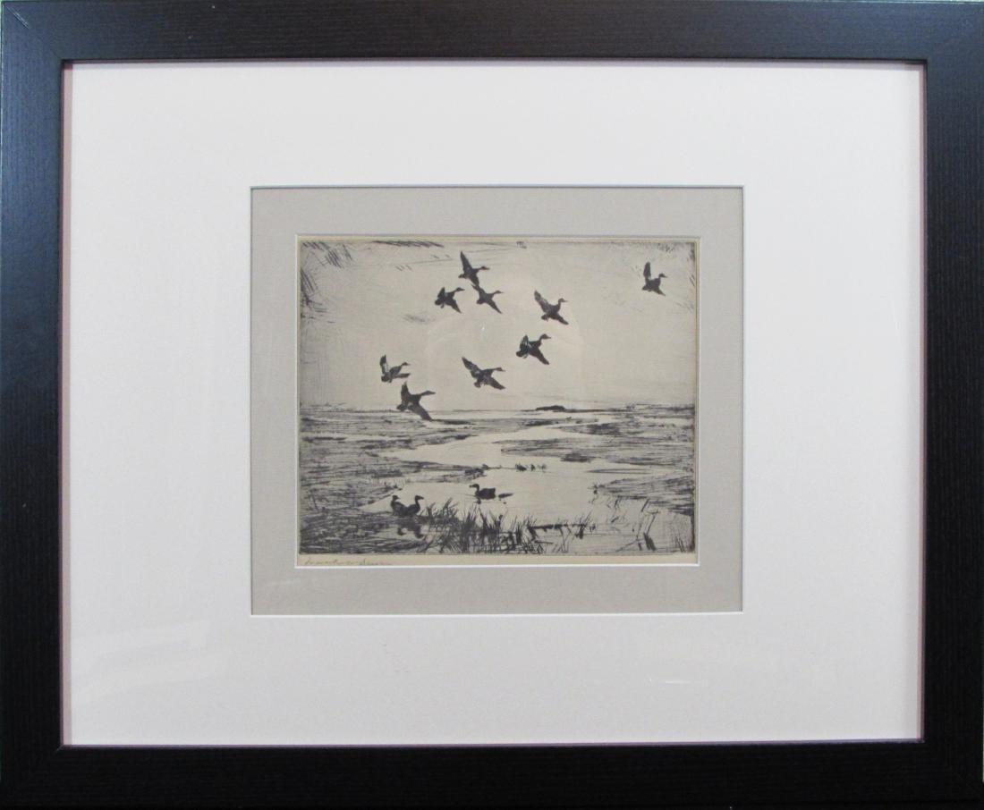 Frank Weston Benson, etching, untitled