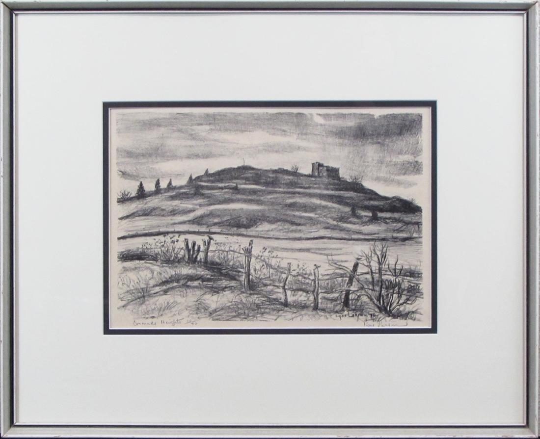 "Signe Larson, lithograph, ""Coronado Heights"", 1970"