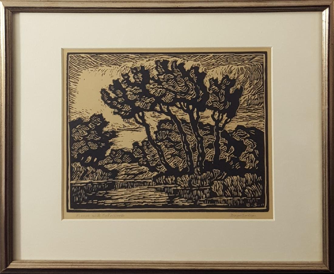 Sandzen, Birger - linoleum cut print, 1941/1942