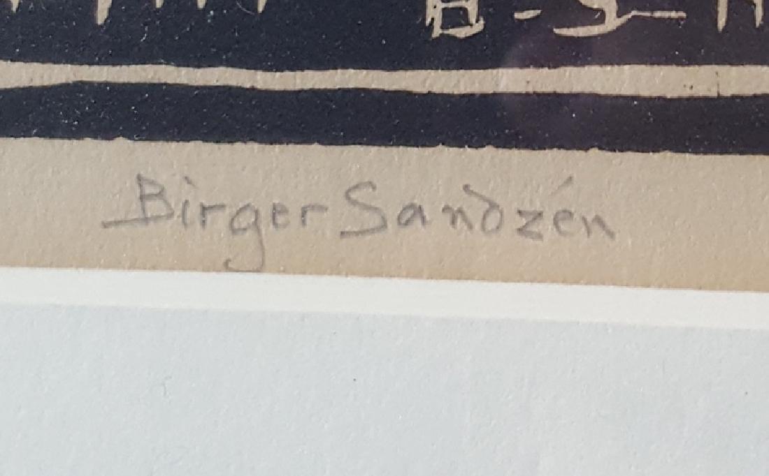 Sandzen, Birger - linoleum cut print, 1941/1942 - 3
