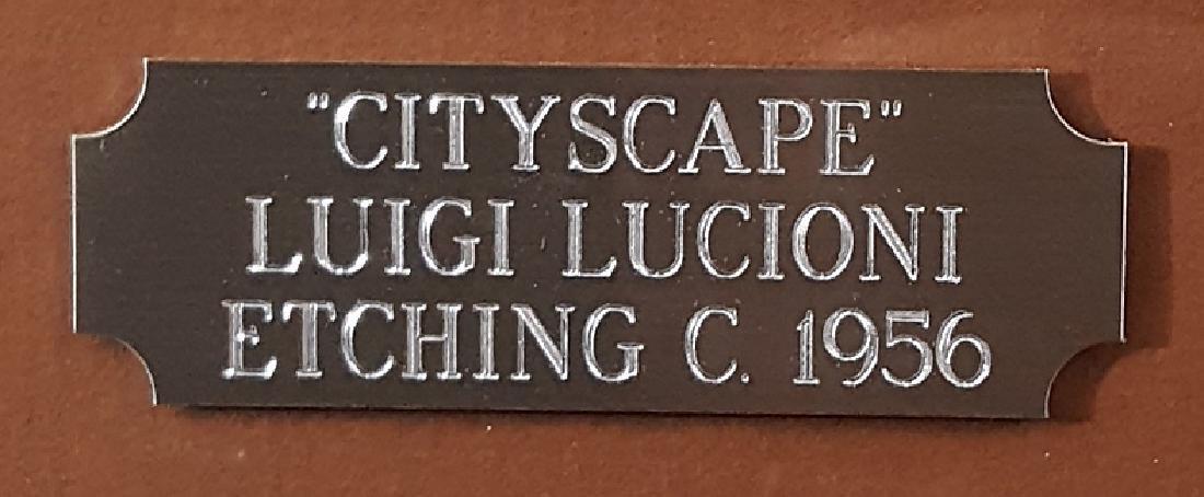 "Lucioni, Luigi - ""Stones and Shadows"" etching, 1956 - 2"