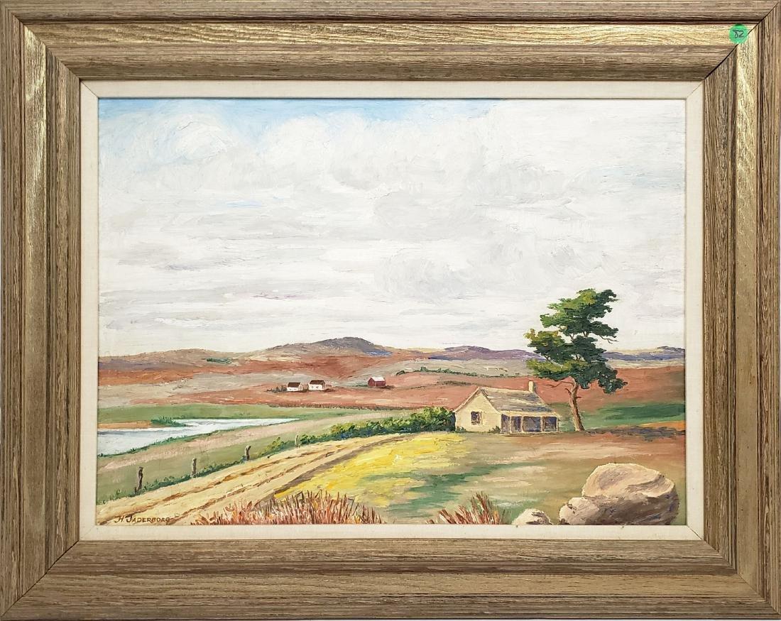 Jaderborg, Hilding - oil on canvas board, good