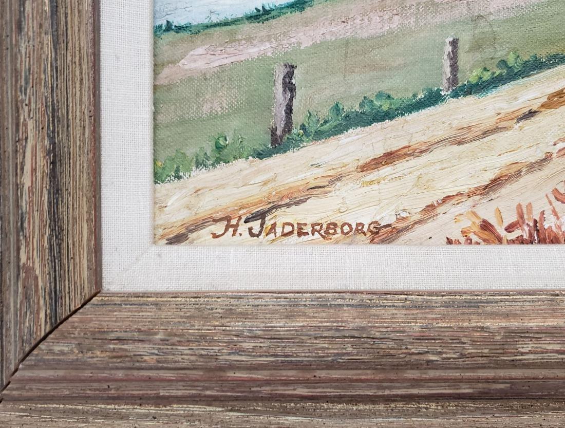 Jaderborg, Hilding - oil on canvas board, good - 2