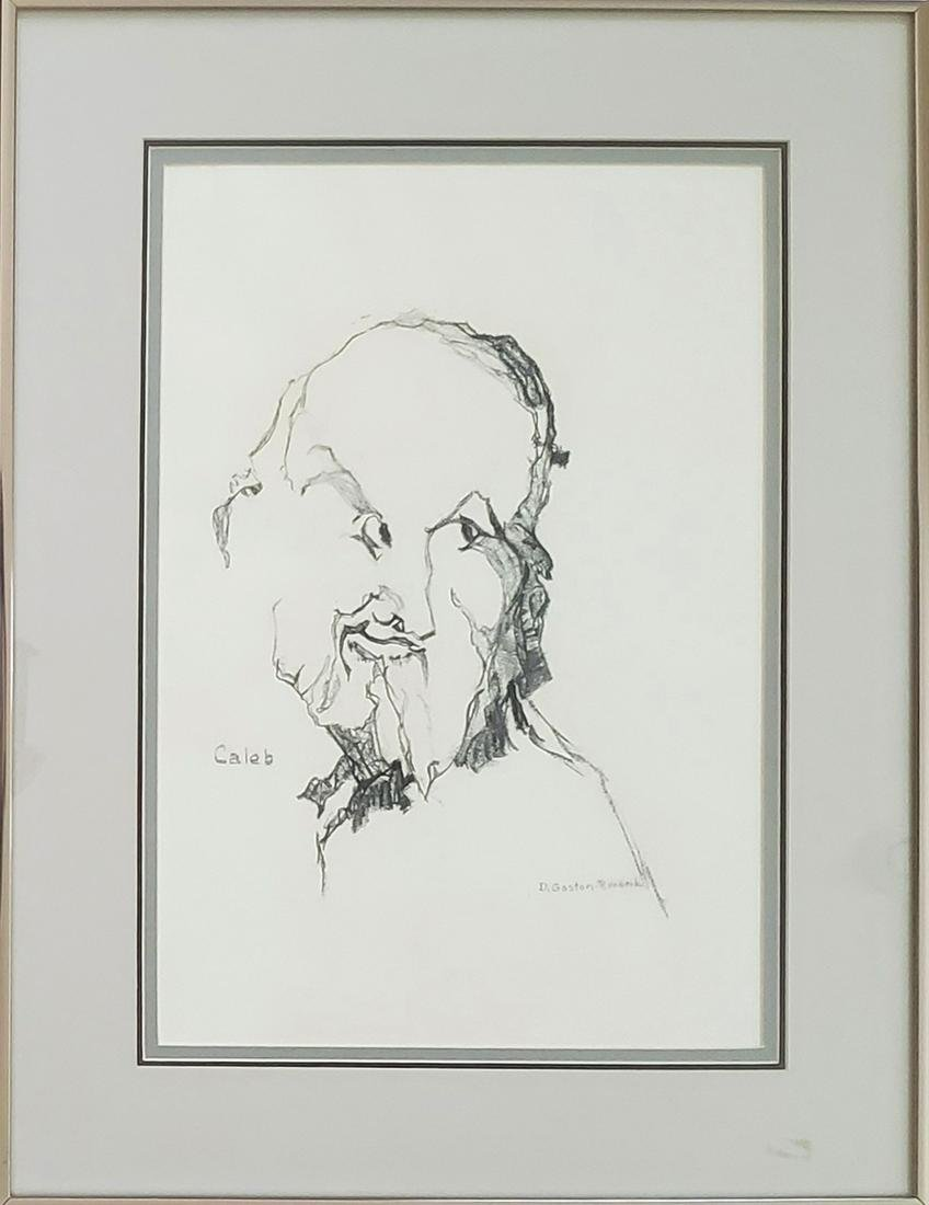 Runbeck, Dolores Gaston - charcoal drawing, good