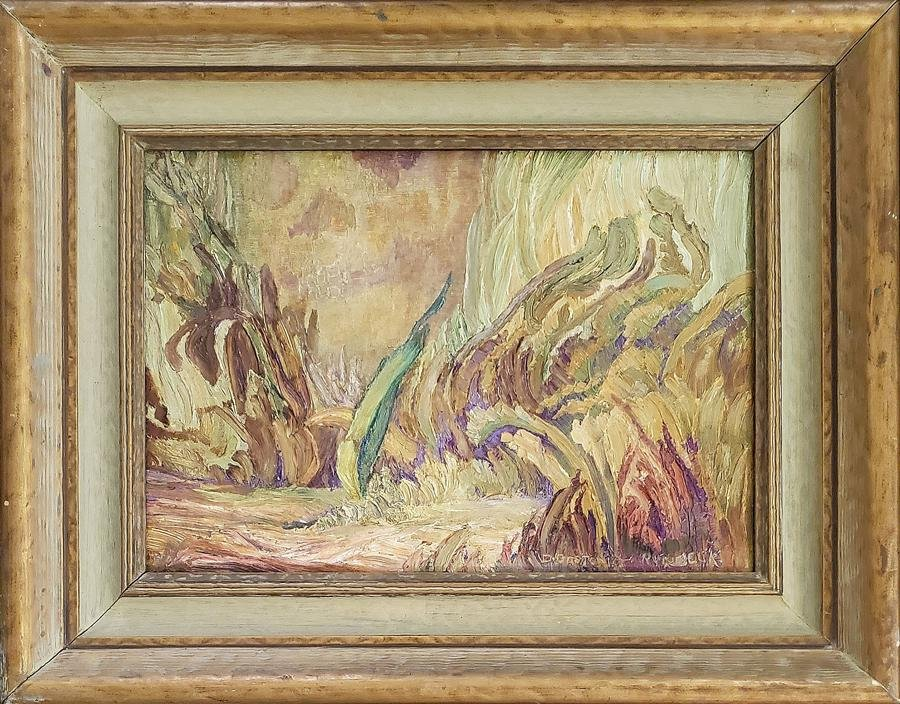 Runbeck, Dolores Gaston - oil on canvas, good
