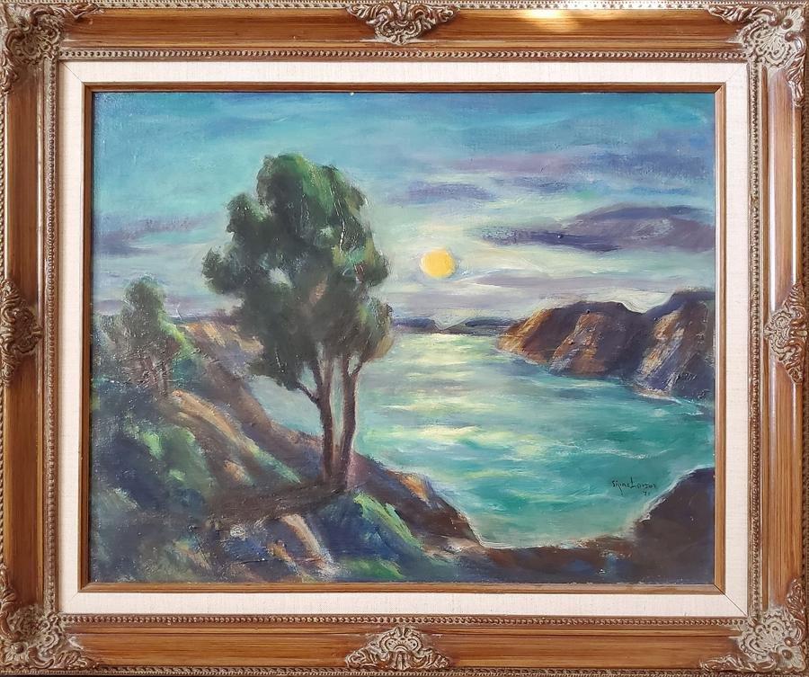 Larson, Signe  - oil on canvas board, good condition,