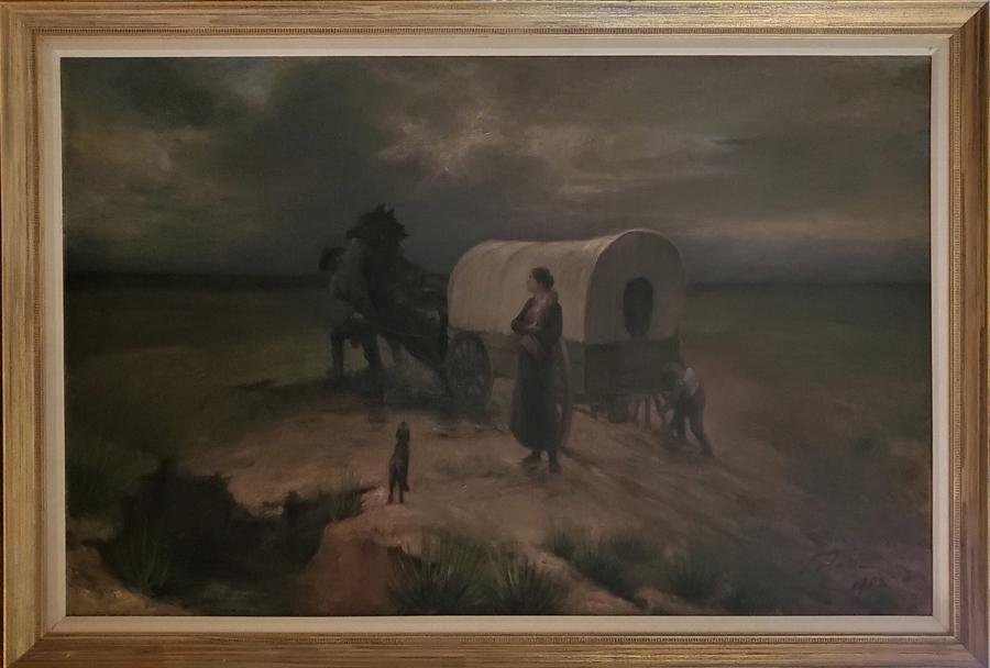 Lotave, Carl - oil on canvas, good condition but has a