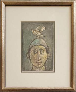 Raymer, Lester - crayon resist, good condition, 8x5.25