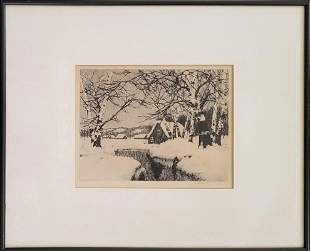 Young, C. Jac - etching, good condition, 7.25x9.75