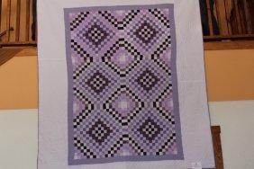 Purple Crazy Patch Quilt  85 X  99 Purple Shades  Crazy