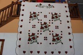 """Rose Garden Quilt 100"""" X  110"""" Rose Garden Quilt 100"""" X"""
