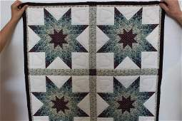 Lone Star Quilt Wall Hanging 35 X 35 Darker Spots on