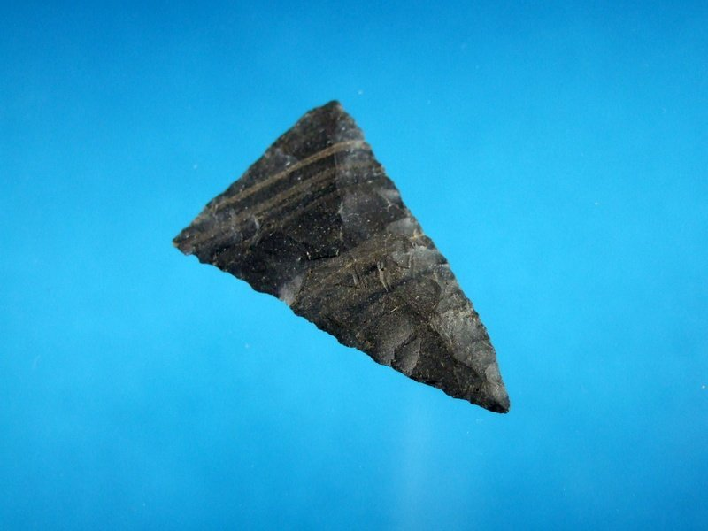Banded Flint Triangular Bird Point