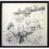 65V: Jim Berryman Cartoon Art Signed to Vandenberg