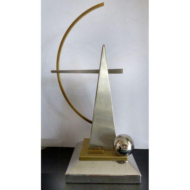 Mid-century Modern Geometric Metal Sculpture
