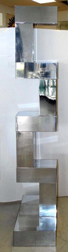 Mid-century Chrome Floor Lamp Paul Evans Attrributed