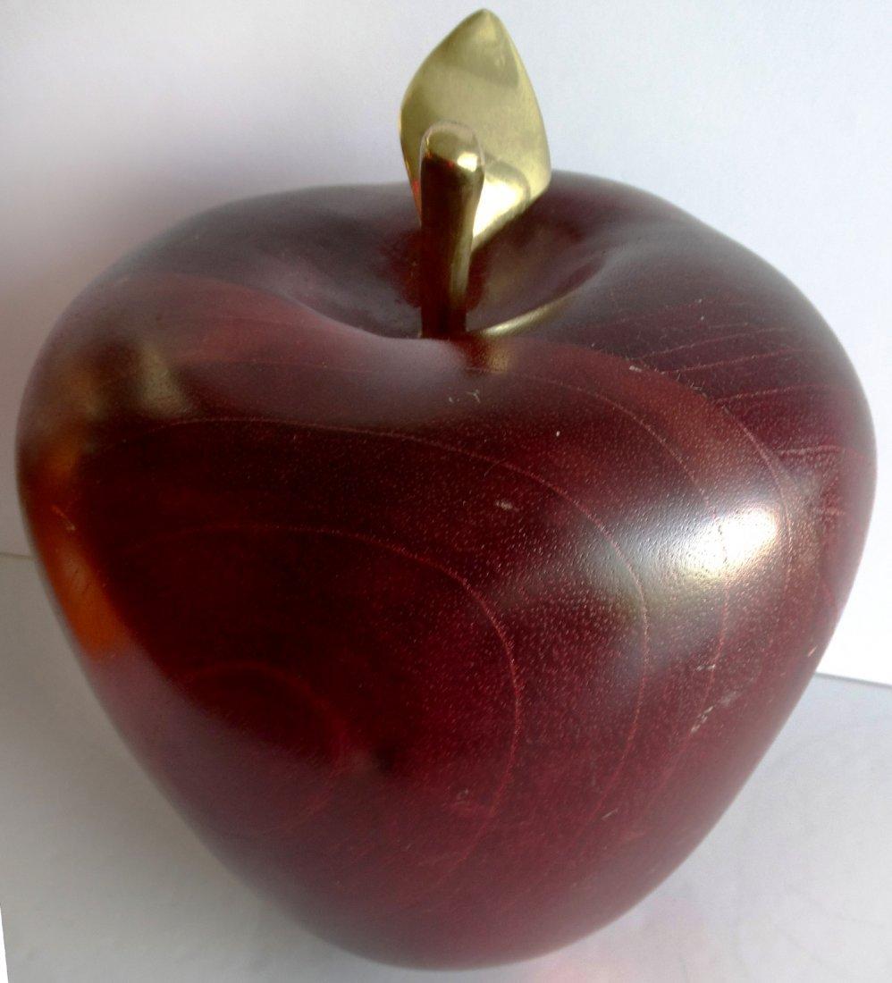 Overscale Carved Wood Appler w/ Brass Stem