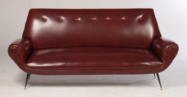 Mid-century Italian  Modern Sofa w/ Iron Legs
