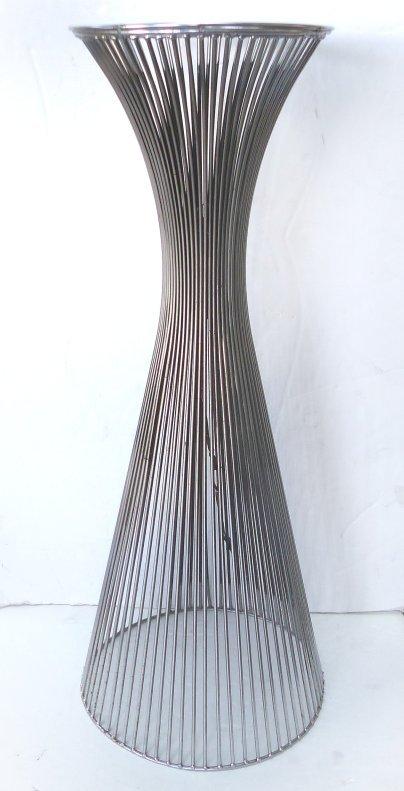 Warren Platner-Style Lighted Chrome Pedestal