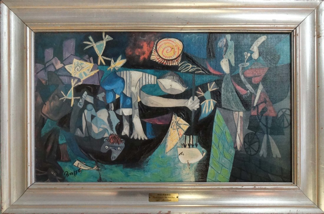 Detailed Abstract Oil Painting, Style of Picasso