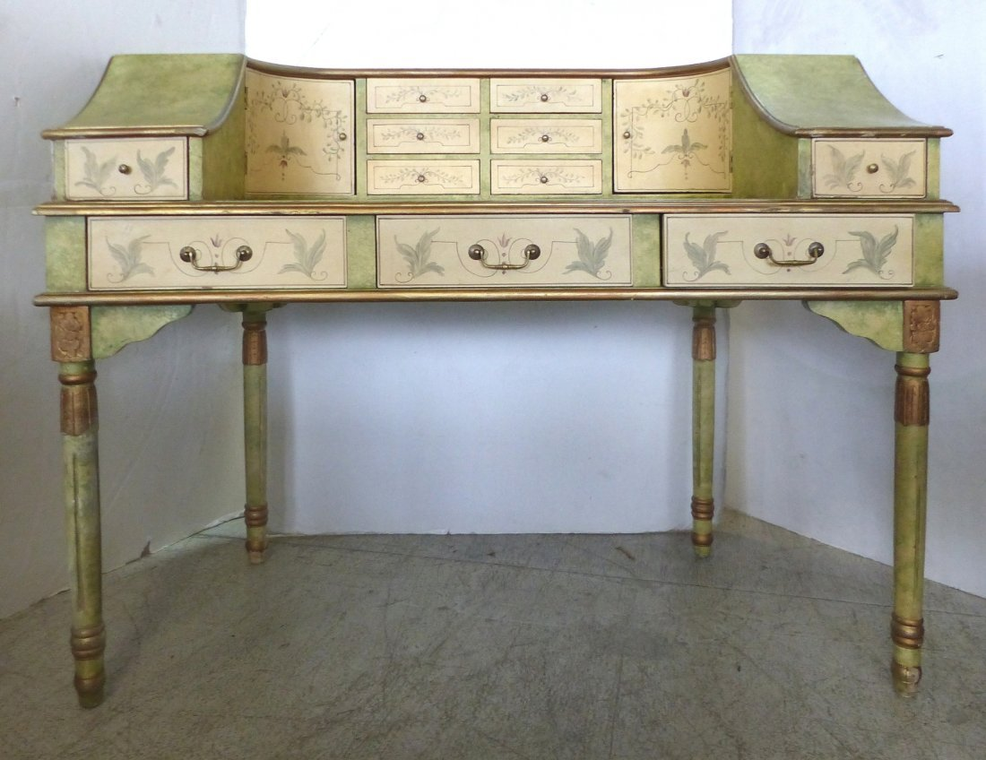 Curved Painted French-Style Desk