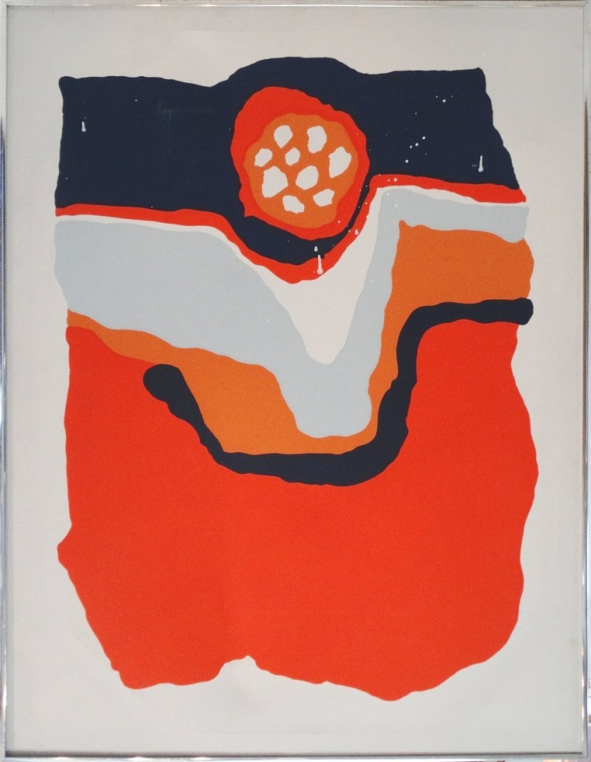 Mid-century Modern Abstract Painting, J. Pollack