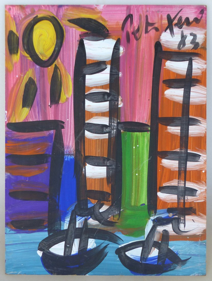 Peter Robert Keil Abstract Expressionist Painting '83