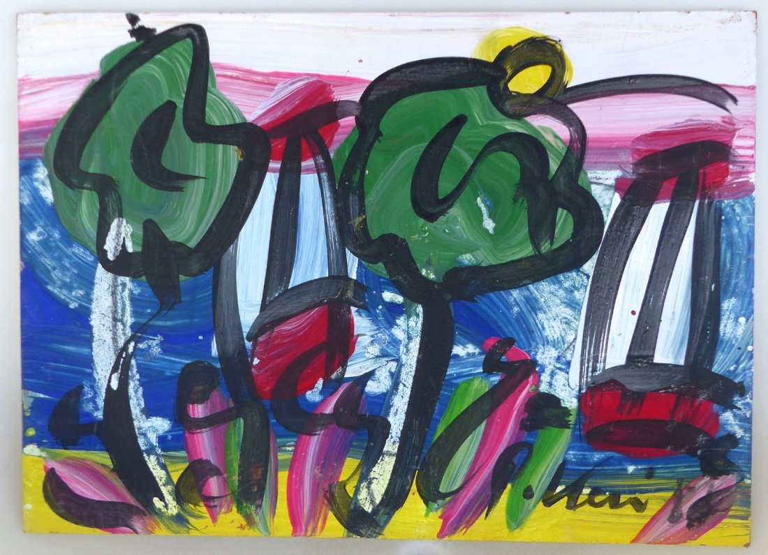 Peter Robert Keil Abstract Expressionist Painting