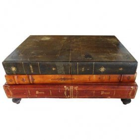 Vintage Maitland-smith Faux-book Coffee Table