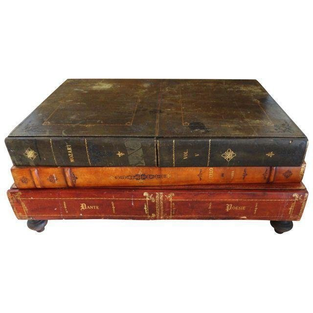 Delightful Vintage Maitland Smith Faux Book Coffee Table