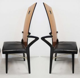 Signed Art Deco Pierre Cardin Chairs