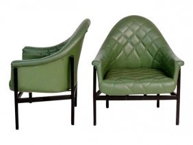 Mid-century Modern Tub Chairs - Milo Baughman Style