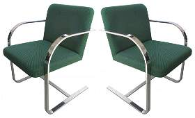 1985 Flat Bar Meis Van der Rohe Brno Style  Chairs