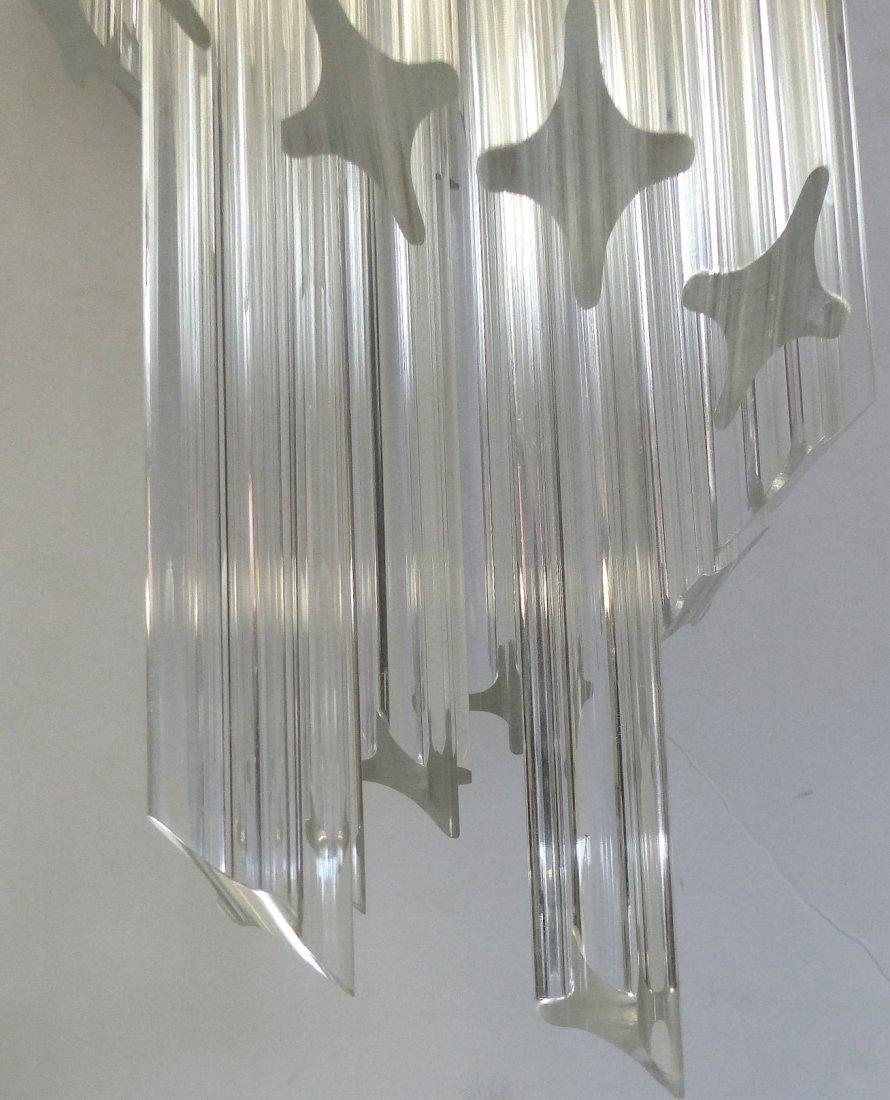 Midcentury Lucite Spiral Venini Style Chandelier - 3