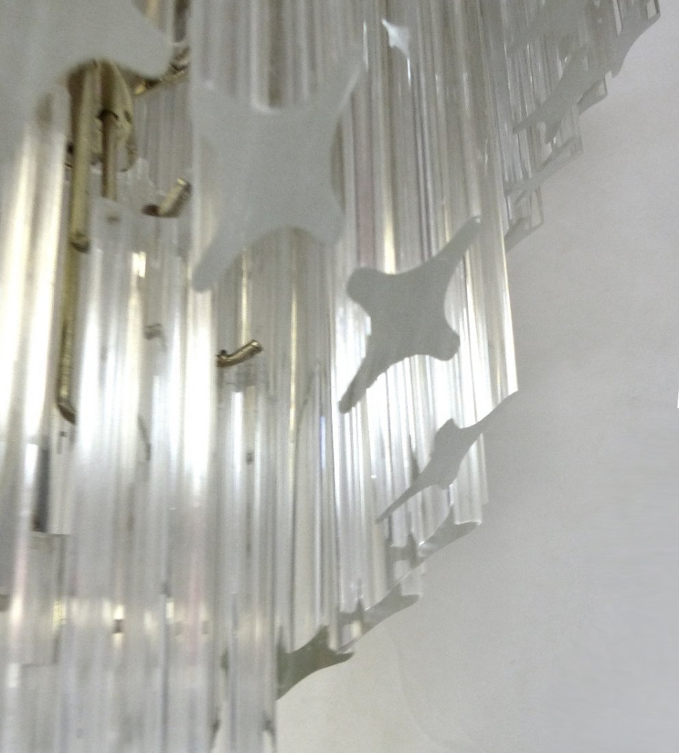 Midcentury Lucite Spiral Venini Style Chandelier - 7