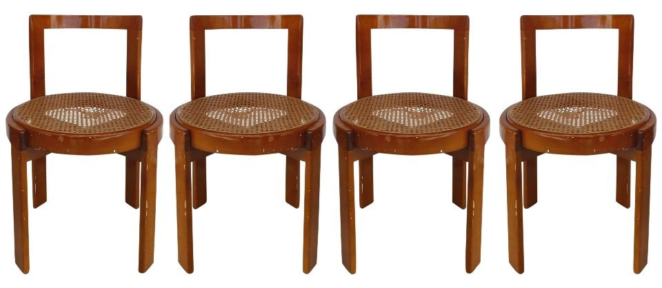 Lacquered Bentwood Side Chairs Set of 4