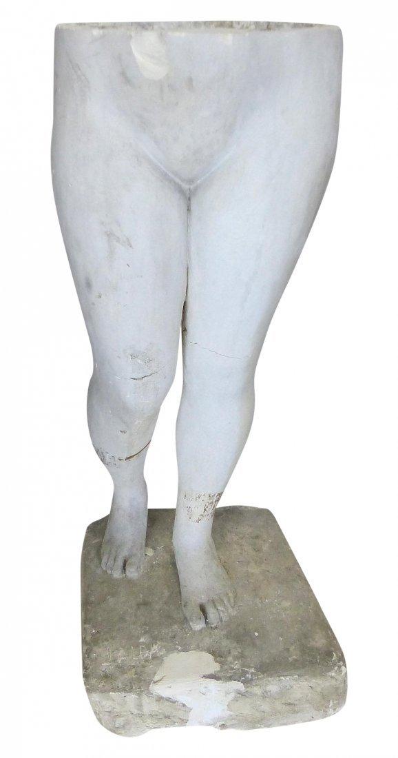 Life-size Plaster Torso Sculpture