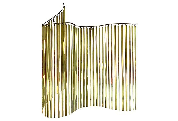 Curtis Jeré Brass Wave Wall Sculpture