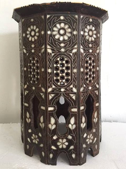 Antique Anglo Indian Mother-of-Pearl Inlay Side Table