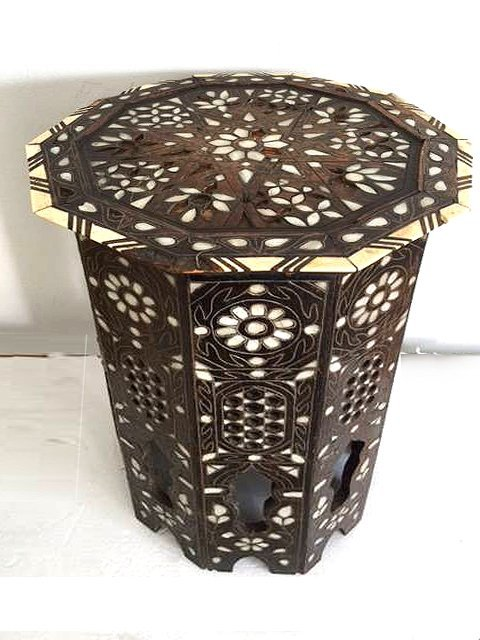 Antique Anglo Indian Mother-of-Pearl Inlay Side Table - 2
