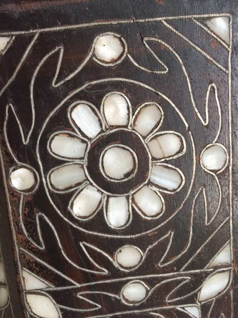 Antique Anglo Indian Mother-of-Pearl Inlay Side Table - 3