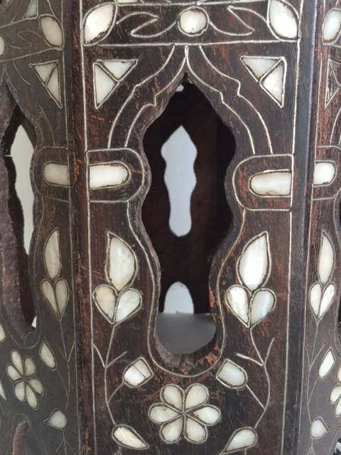Antique Anglo Indian Mother-of-Pearl Inlay Side Table - 4