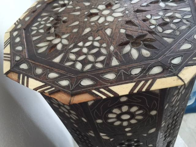 Antique Anglo Indian Mother-of-Pearl Inlay Side Table - 6