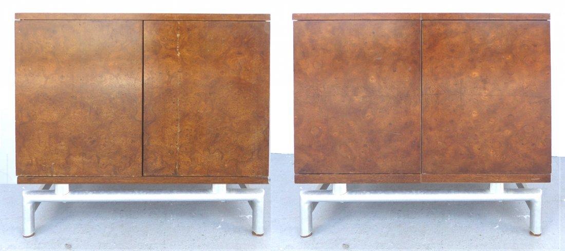 Mid-century Burl Side Table/Nightstands Baughman Style