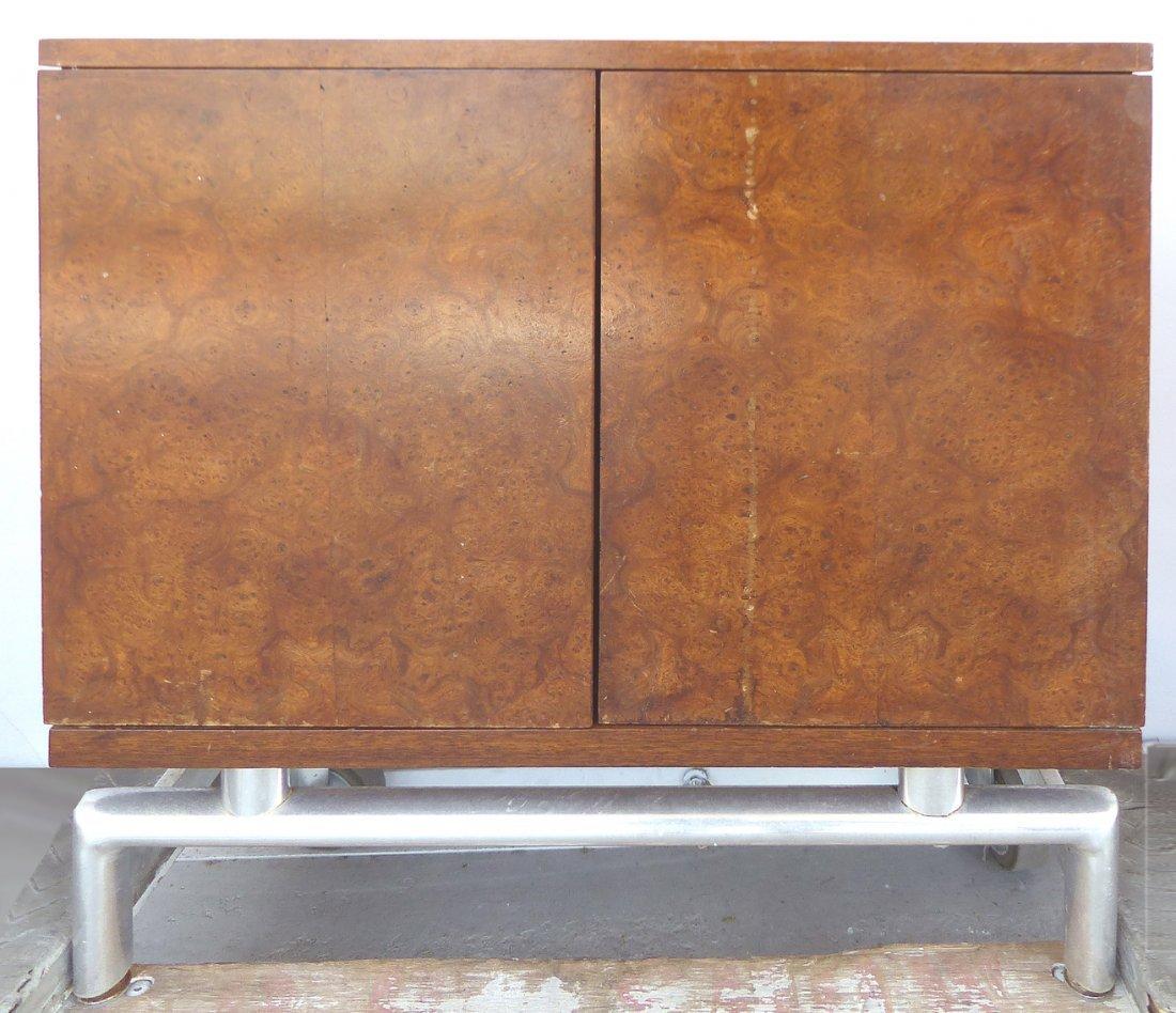Mid-century Burl Side Table/Nightstands Baughman Style - 3