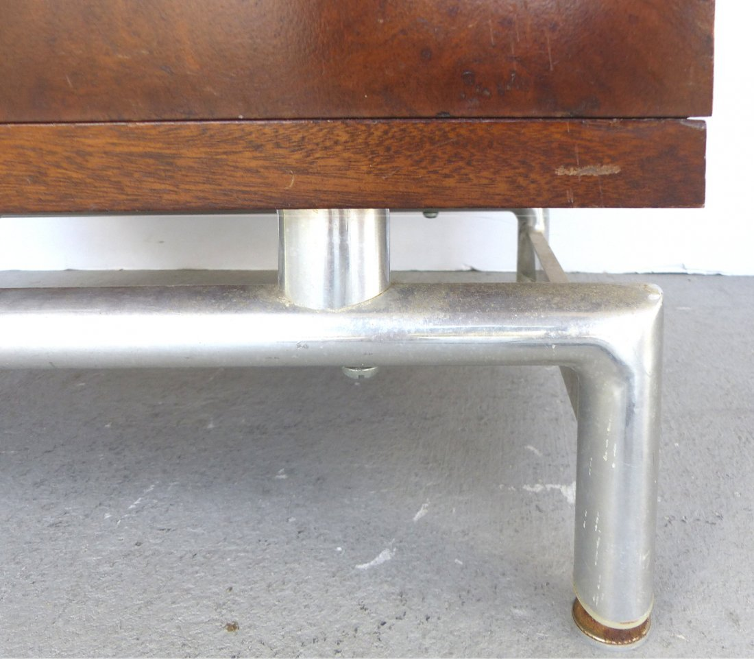 Mid-century Burl Side Table/Nightstands Baughman Style - 4