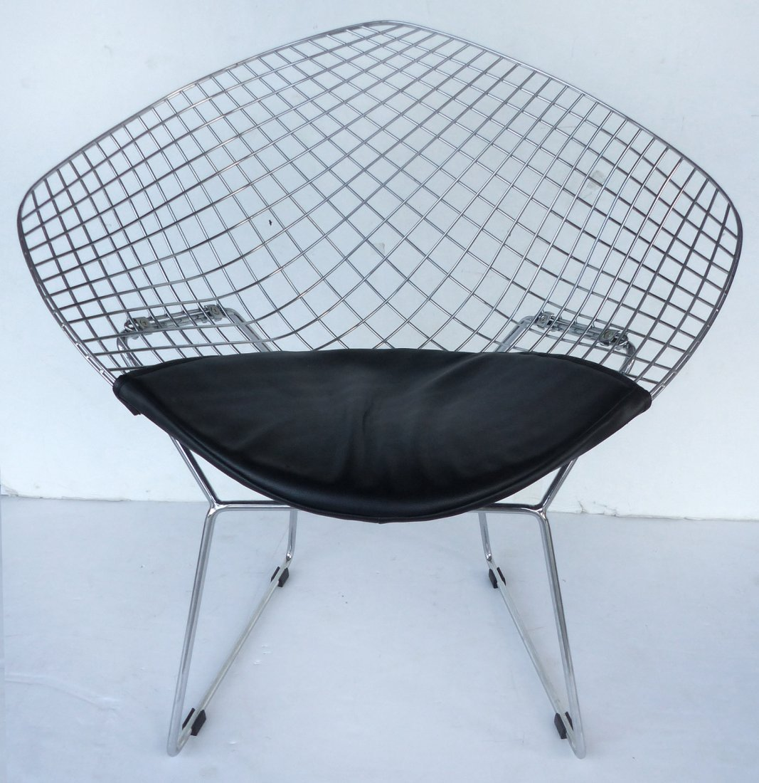 Bertoia Style Diamond Mesh Lounge Chair   Lot 122| Vie