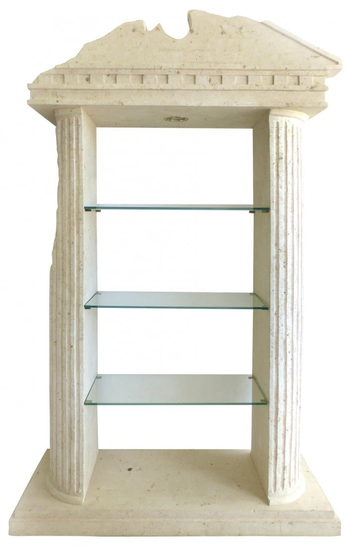 Tessellated Stone Greek Ruins Etagere   Lot 43| View C
