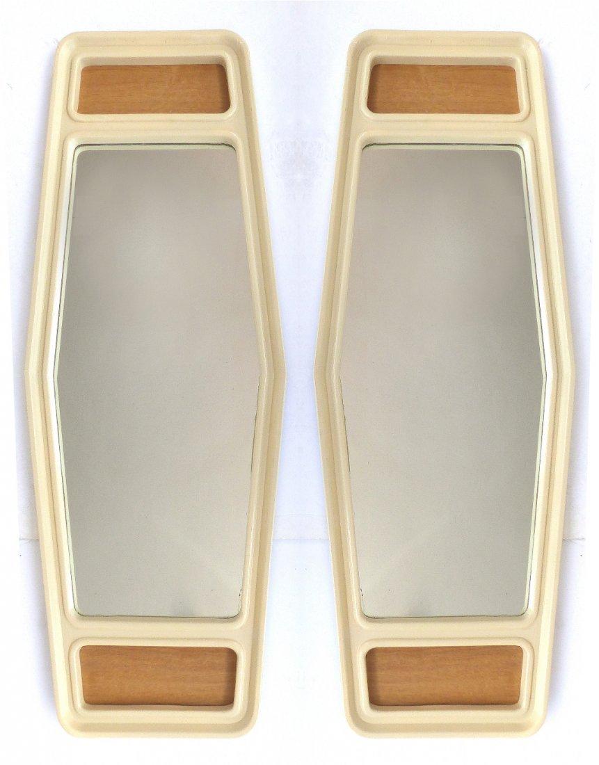 Pair of Mid-century Modern Tapered Mirrors