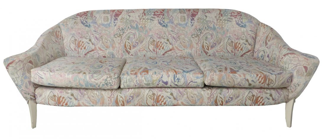 Mid-century Thayer Coggin Curved Upholstered Sofa